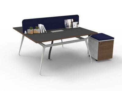 โต๊ะทำงานขา Karft โต๊ะ แบบ 2 ที่นั่ง ขนาด 1500×750 mm