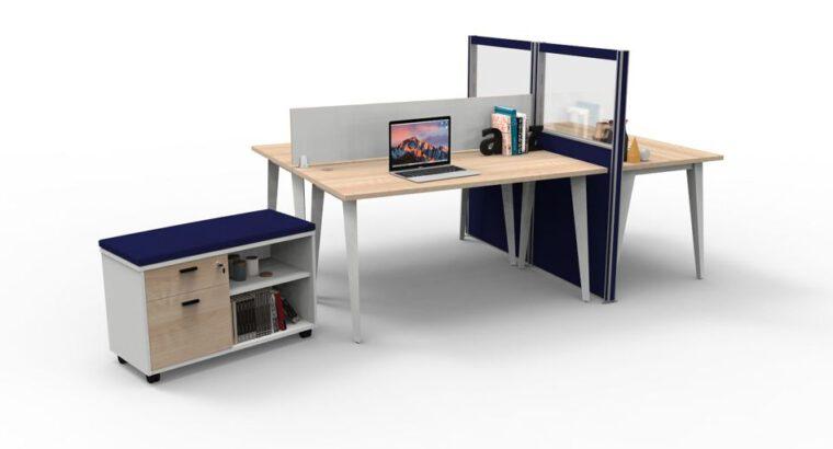 โต๊ะทำงานขา Nova โต๊ะ แบบ 1 ที่นั่ง ขนาด 1500×750 mm