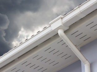 Vinyl Gutter SCG : Smart Model (White) with Installation